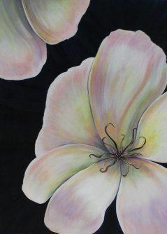 "Pamela Atkinson, ""Reaching"", Acrylic Painting on Canvas, 40″ x 30"", ©2018"