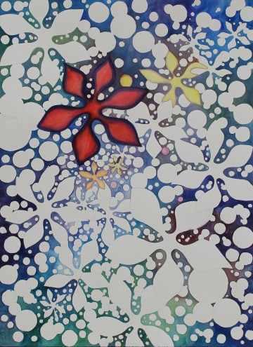 "Pamela Atkinson, watercolor, painting, painter, Pamela Atkinson, Acrylic Painting on Canvas, 30"" x 40"", ©2018, pamelaatkinson.net, visual artist, artist. Red Star, Watercolor, 22″x 30″, ©2016, Pamela Atkinson, Pam Atkinson, pamelaatkinson.net, pamelaatkinsonart.net, watercolor, acrylic paint, workshops, Riverside, CA, Southern California, Visual Artist"