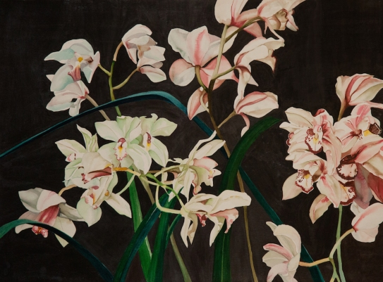 "Pamela Atkinson, ""Orchids I,"" Watercolor, 22"" x 30"", ©2018"