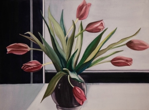 "Pamela Atkinson, ""Tulips XXII,"" Watercolor, 22"" x 30"", ©2018"