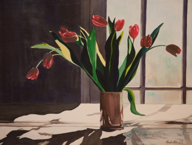 "Pamela Atkinson, ""Tulips III,"" Watercolor, 22"" x 30"", ©2018"