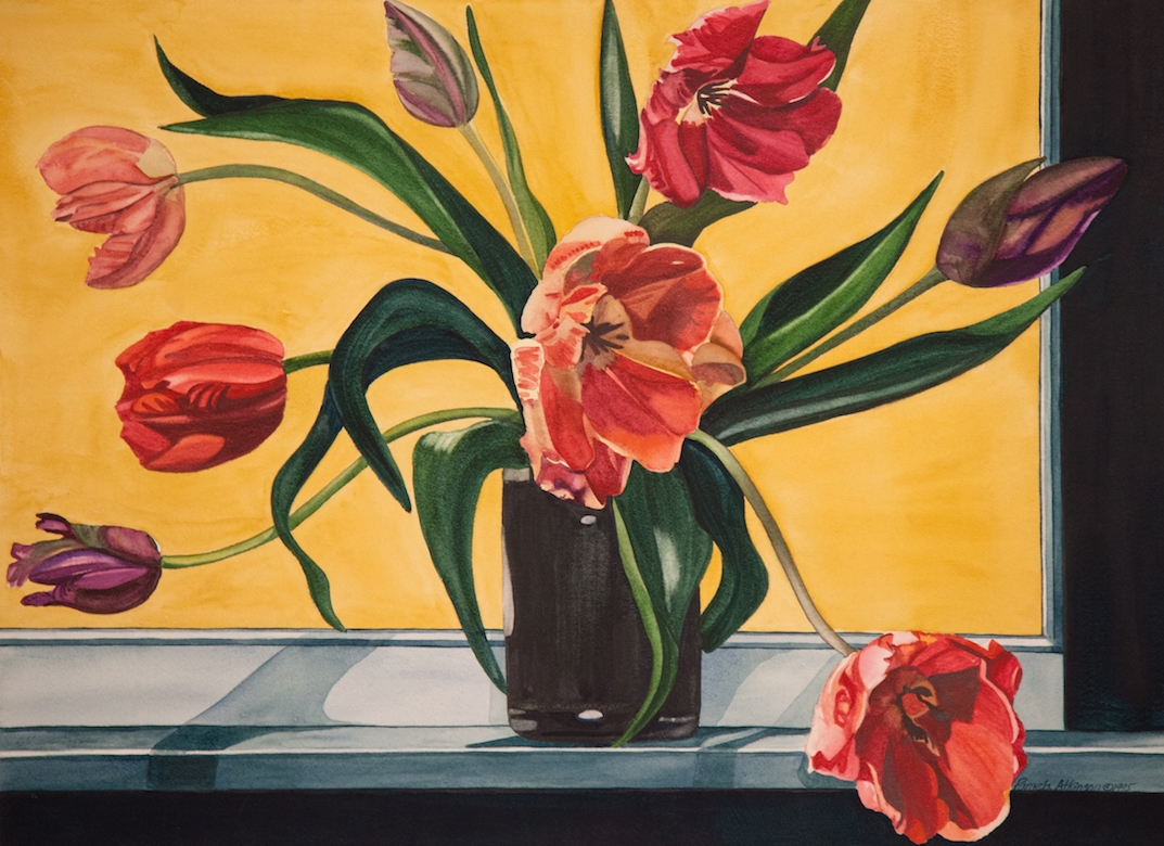 "Pamela Atkinson, ""Tulips XVII,"" Watercolor, 22"" x 30"", ©2018"
